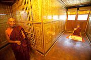 Botataung Pagoda in Yangon, Myanmar (Rangoon, Burma).