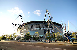 A general view of The Etihad Stadium before the UEFA Champions League group stage match between Manchester City and Juventus at the Etihad Stadium - Mandatory byline: Matt McNulty/JMP - 07966386802 - 15/09/2015 - FOOTBALL - Etihad Stadium -Manchester,England - Manchester City v Juventus - UEFA Champions League - Group D