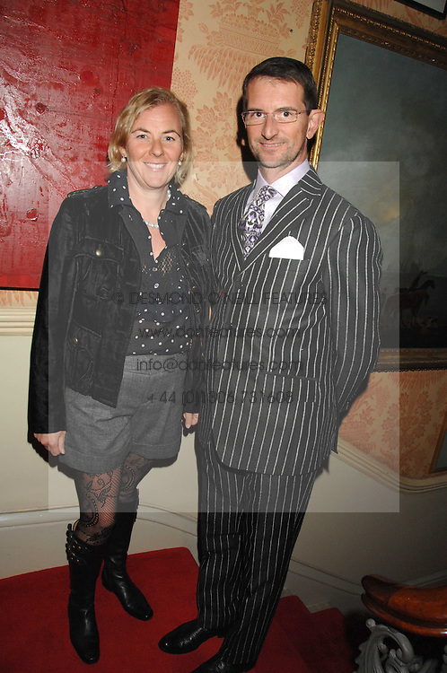 COUNT & COUNTESS MANFREDIE DELLA GHERARDESCA at the engagement party of Vanessa Neumann and William Cash held at 16 Westbourne Terrace, London W2 on 15th April 2008.<br /><br />NON EXCLUSIVE - WORLD RIGHTS