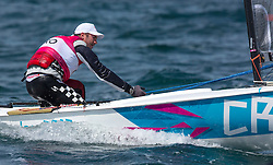 03.08.2012, Bucht von Weymouth, GBR, Olympia 2012, Segeln, im Bild Kljakovic Gaspic Ivan, (CRO, Finn) // during Sailing, at the 2012 Summer Olympics at Bay of Weymouth, United Kingdom on 2012/08/03. EXPA Pictures © 2012, PhotoCredit: EXPA/ Daniel Forster ***** ATTENTION for AUT, CRO, GER, FIN, NOR, NED, POL, SLO and SWE ONLY!
