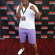 LAS VEGAS, NV - SEPTEMBER 13: Former champion Mike Tyson poses on the red carpet during the Box Fan Expo at the Las Vegas Convention Center on September 13, 2014 in Las Vegas, Nevada.   (Photo by Alex Menendez/Getty Images) *** Local Caption ***Mike Tyson