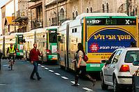 Public buses, Jerusalem, Israel.