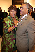 27 January 2011-New York , NY- l to r: Linda Johnson Rice and Rev. Al Sharpton at ' For the Love of Color ' celebrating the vision of Eunice Johnson and the Ebony Fashion, Fair Cosemetics sponsored by Macy's and held at Macy's Herald Square on January 27, 2011 in New York City.  Photo Credit: Terrence Jennings