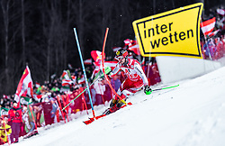 "29.01.2019, Planai, Schladming, AUT, FIS Weltcup Ski Alpin, Slalom, Herren, 1. Lauf, im Bild Marcel Hirscher (AUT) // Marcel Hirscher of Austria in action during his 1st run of men's Slalom ""the Nightrace"" of FIS ski alpine world cup at the Planai in Schladming, Austria on 2019/01/29. EXPA Pictures © 2019, PhotoCredit: EXPA/ JFK"