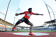 Fedrick Dacres (JAM) competes and wins in Men's Discus Throw during the Meeting de Paris 2018, Diamond League, at Charlety Stadium, in Paris, France, on June 30, 2018 - Photo Jean-Marie Hervio / KMSP / ProSportsImages / DPPI