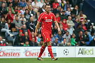 Liverpool's Rickie Lambert looks on. pre-season friendly match, Preston North End v Liverpool at Deepdale in Preston, England on Saturday 19th July 2014.<br /> pic by Chris Stading, Andrew Orchard sports photography.
