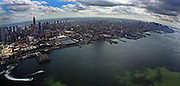 Aerial photography - elevated view of Manhattan, New York Fisheye affect