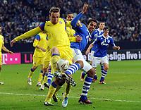 v.l. Novak Martinovic, Geraldo Alves, Joel Matip (Schalke)<br /> Europa League, Gruppenphase, FC Schalke 04 - FC Steaua Bukarest 2:1<br /> Norway only