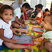 The Alola Foundation provide pre-school play and learn sessions. Education in Timor-Leste is very basic with classes up to 80 children and teachers trained under an old fashined system with very little inter-action between teacher and pupils..Fundasaun Alola is a not for profit non government organization operating in Timor Leste to improve the lives of women and children. Founded in 2001 by the then First Lady, Ms Kirsty Sword Gusmao, the organization seeks to nurture women leaders and advocate for the rights of women.