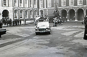 President Patrick Hillery Inauguration at Dublin Castle .03/12/1976.12/03/1976.3rd December 1976.Photograph shows the car containing President Hillery and his family leaving Dublin Castle. Dr Hillery was elected Ireland's sixth president un-opposed on 9th November 1976.