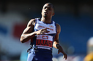 Chijindu Ujah winning the 100m heat race. The British Championships 2016, athletics event at the Alexander Stadium in Birmingham, Midlands  on Friday 24th June 2016.<br /> pic by John Patrick Fletcher, Andrew Orchard sports photography.