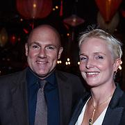 NLD/Amsterdam/20131101 - JFK Gala 2013, the Greatest Man 2013, Andre Kuipers en partner Helen Conijn
