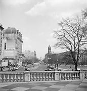 9969-D12. Treasury Dept. balustrade, looking down Pennsylvania Ave. toward Capitol, Washington, DC, March 24-April 1, 1957