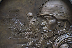 April 28, 2017 - London, United Kingdom - The Afghanistan and Iraq Memorial is seen in London on April 28, 2017. Part of the Withehall and an exit of Westminster Station, were closed after a man was arrested while he was velieved to plot a terror attack near Downing Street. (Credit Image: © Alberto Pezzali/NurPhoto via ZUMA Press)