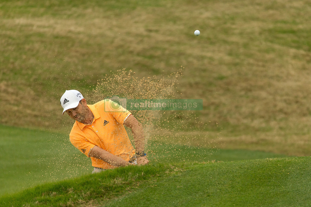 March 23, 2018 - Austin, TX, U.S. - AUSTIN, TX - MARCH 23:  Sergio Garcia hits out of a green side bunker during the WGC-Dell Technologies Match Play Tournament on March 22, 2018, at the Austin Country Club in Austin, TX.  (Photo by David Buono/Icon Sportswire) (Credit Image: © David Buono/Icon SMI via ZUMA Press)