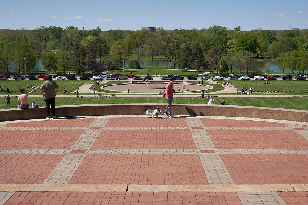 Worlds Fair Pavilion inside Forest Park in St. Louis, Missouri on April 26, 2020