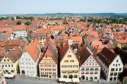 Rothenburg ob der Tauber medieval town in Bavaria Germany