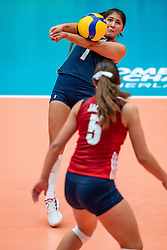 Alexis Rodriguez of USA in action during United States - Netherlands, FIVB U20 Women's World Championship on July 15, 2021 in Rotterdam