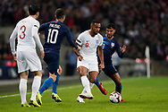 Callum Wilson of England under pressure from DeAndre Yedlin of USA during the International Friendly match between England and USA at Wembley Stadium, London, England on 15 November 2018.