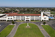 A general view of St. John Bosco High School amid the global coronavirus COVID-19 pandemic, Saturday, June 27, 2020, in Bellflower, Calif. The  36-acre campus is the largest private school campus in California.