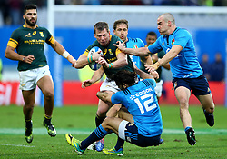 November 19, 2016 - Rome, Italy - Luke McLean (I) trying to tackle on Ruan Combrinck (S)  during the international match between Italy v South Africa at Stadio Olimpico on November 19, 2016 in Rome, Italy. (Credit Image: © Matteo Ciambelli/NurPhoto via ZUMA Press)