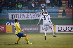 Pišek and Karničnik in action during football match between NŠ Mura and NK Celje in 18th Round of Prva liga Telekom Slovenije 2018/19, on December 2, 2018 in Fazanerija, Murska Sobota, Slovenia. Photo by Blaž Weindorfer / Sportida