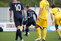 Falkirk's Rory Loy scoring their first goal from a penalty.<br /> half time : Falkirk 1 v 0 Queen of the South, Scottish Championship 5/10/2013.<br /> ©Michael Schofield.