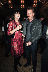 DAISY LOWE and RHYS IFANS at a party to celebrate the 135th anniversary of The Criterion restaurant, Piccadilly, London held on 2nd February 2010.