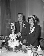12/01/1953<br /> 01/12/1953<br /> 12 January 1953<br /> Wedding of John Brady, 46 Cabra Drive and Miss May Ball, 101 Pembroke Cottages, Donnybrook at the Church of the Sacred Heart, Donnybrook, Dublin.