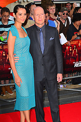 Red 2 UK film premiere.<br /> Emma Heming with Bruce Willis during the premiere of the sequel to 2010's graphic novel adaption, about a group of retired assassins. <br /> Empire Leicester Square<br /> London, United Kingdom<br /> Monday, 22nd July 2013<br /> Picture by Nils Jorgensen / i-Images