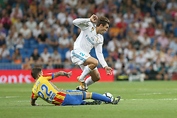 August 27, 2017 - Madrid, Spain - Santi Mina and Kovacic. LaLiga Santander matchday 2 between Real Madrid and Valencia. The final score was 2-2, Marco Asensio scored twice for Real Madrid. Carlos Soler and Kondogbia did it for Valencia. Santiago Bernabeu Stadium, august 27, 2017. Photo by  (Credit Image: © |Antonio Pozo |  Media Expre/VW Pics via ZUMA Wire)
