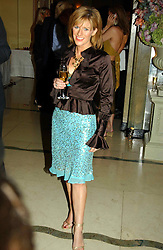 """Newsreader ANDREA CATHERWOOD at a party to celebrate the publication of Bruce Oldfield's autobiography """"Rootless"""" held in aid of Crimestoppers at Claridge's, Brook Street, London W1 on 22nd September 2004.<br /><br />NON EXCLUSIVE - WORLD RIGHTS"""