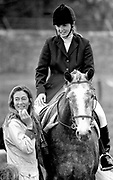Sarah Ferguson (Fergie), and her mother Susan Barantes at Millstreet Show jumping in 1994<br /> Picture by Don MacMonagle