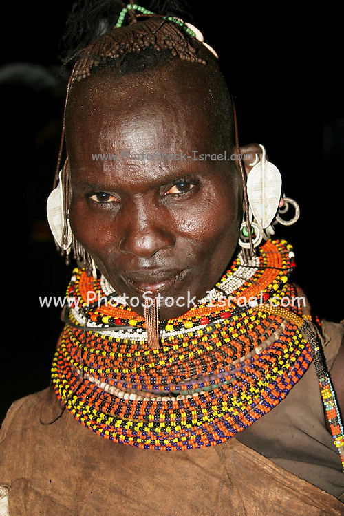Africa, Kenya, Turkana tribe Tribesmen in traditional dress and jewelry October 2005