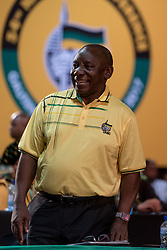 JOHANNESBURG, Dec. 17, 2017  Deputy President Cyril Ramaphosa attends the conference in Johannesburg, South Africa, Dec. 16, 2017. The 54th national congress of South Africa's ruling African National Congress (ANC) began on Saturday in Johannesburg with a call for unity. The conference is expected to elect the party president, chairperson, secretary general and other party leaders.  yk) (Credit Image: © Dave Naicker/Xinhua via ZUMA Wire)