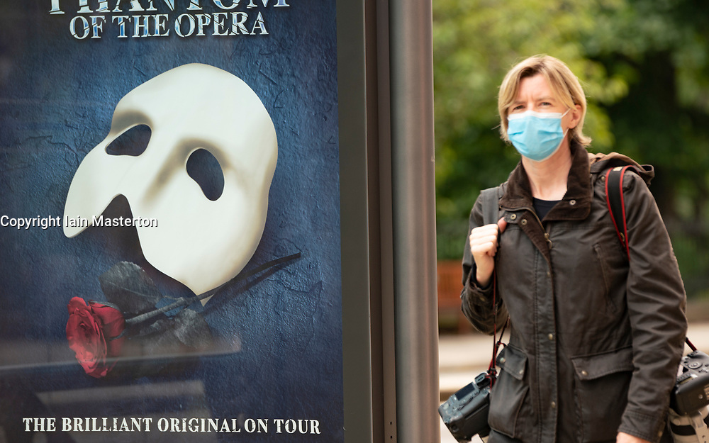 Edinburgh, Scotland, UK. 23 June, 2020. Members of the public wearing face masks on Princes Street in Edinburgh. It is now mandatory for passengers on public transport to wear face masks. Iain Masterton/Alamy Live News