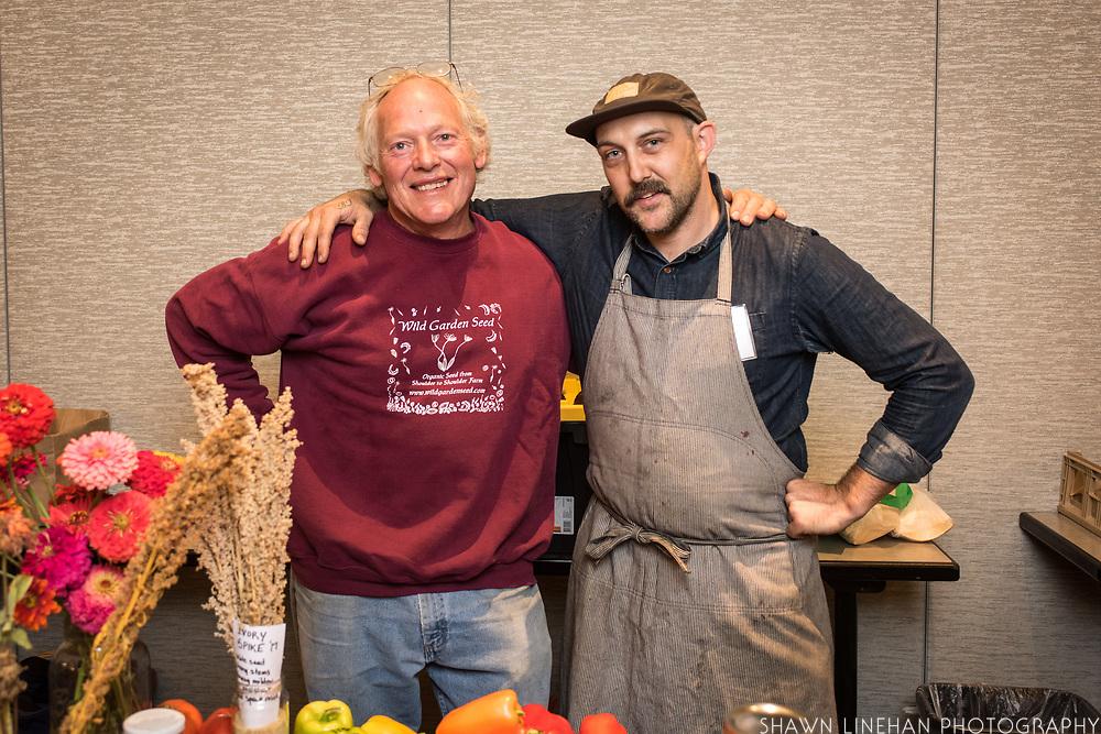 QUINOA, Chenopodium quinoa<br />Showcase: 'Mint Vanilla' <br />Breeder: Frank Morton, Wild Garden Seed<br />Chef: Andrew Mace<br />Dish: Malted quinoa mustard with fresh spelt pretzel