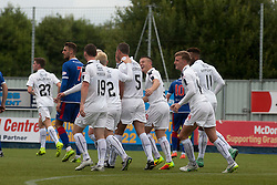 Falkirk's David McCracken celebrates after scoring their fourth goal. Falkirk 6 v 1 Elgin City, Irn-Bru Challenge Cup Third Round, played 3/9/2016 at The Falkirk Stadium .