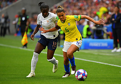 Brazil's Tamires during FIFA Women's World Cup France group A match France v Brazil on June 23, 2019 in Le Havre, France. France won 2-1 after extra time reaching quarter-finals. Photo by Christian Liewig/ABACAPRESS.COM