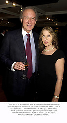 LORD & LADY WEINBERG, she is designer Anouska Hempel, at a reception in London on 27th November 2000.	OJM 9