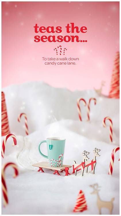 Advertising Photography. David's Tea in store displays- holiday impact walls. 2014.