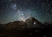 Postkarte A6: Eiger und Jungfrau, Grindelwald (7636)
