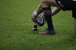 New-Zealand's Beauden Barrett before converting a free-kick during a rugby friendly Test match, France vs New-Zealand in Stade de France, St-Denis, France, on November 11th, 2017. France New-Zealand won 38-18. Photo by Henri Szwarc/ABACAPRESS.COM