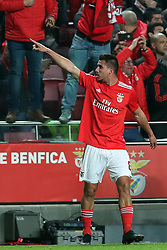 February 6, 2019 - Lisbon, Portugal - Benfica's midfielder Gabriel of Brazil  celebrates after scoring a goal during the Portugal Cup Semifinal first leg football match SL Benfica vs Sporting CP at Luz stadium in Lisbon, on February 6, 2019. (Credit Image: © Pedro Fiuza/ZUMA Wire)