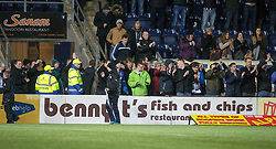 Fraserburgh's fans at the end.<br /> Falkirk 4 v 1 Fraserburgh, Scottish Cup third round, played 28/11/2015 at The Falkirk Stadium.