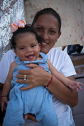 A mother and daughter at the El Chapparal camp for asylum seekers, Tijuana