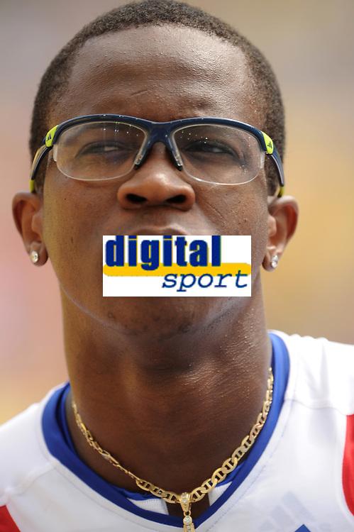 ATHLETICS - IAAF WORLD CHAMPIONSHIPS 2011 - DAEGU (KOR) - DAY 2 - 28/08/2011 - PHOTO : STEPHANE KEMPINAIRE / KMSP / DPPI - <br /> 110 M HURDLES - MEN - DAYRON ROBLES (CUB)