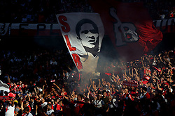 October 7, 2018 - Lisbon, Portugal - Benfica's supporters during the Portuguese League football match SL Benfica vs FC Porto at the Luz stadium in Lisbon on October 7, 2018. (Credit Image: © Pedro Fiuza/NurPhoto/ZUMA Press)