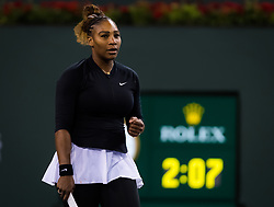 March 8, 2019 - Indian Wells, USA - Serena Williams of the United States in action during her second-round match at the 2019 BNP Paribas Open WTA Premier Mandatory tennis tournament (Credit Image: © AFP7 via ZUMA Wire)