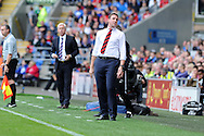 Cardiff city's manager Malky Mackay looks on .Barclays Premier League match, Cardiff city v Newcastle Utd  at the Cardiff city stadium in Cardiff, South Wales on Saturday 5th Oct 2013. pic by Andrew Orchard, Andrew Orchard sports photography,
